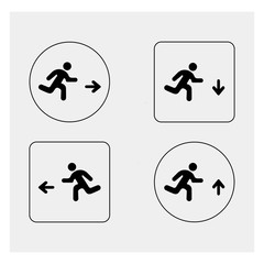 Set of exit icons
