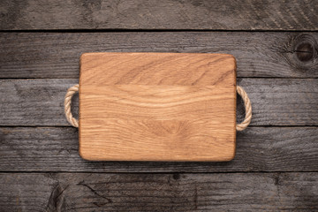 Chopping board on rustic table Wall mural