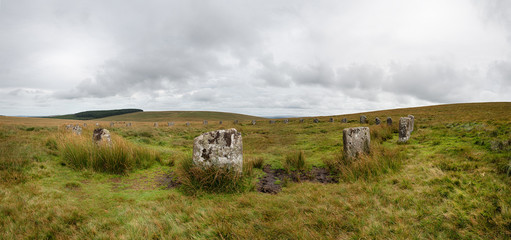 Wall Mural - Grey Wethers Stone Circle Panorama
