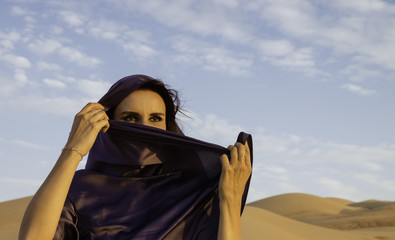 Anna in the Empty Quarter Desert