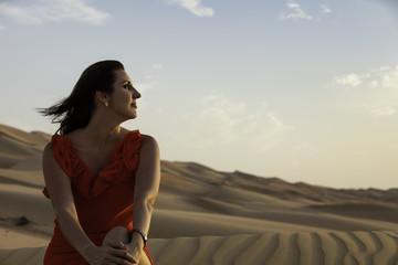 Model Anna in the Rub'al Khali