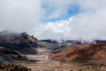 Haleakala Crater through the Morning Fog