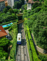 Old Cableway in Bergamo Italy
