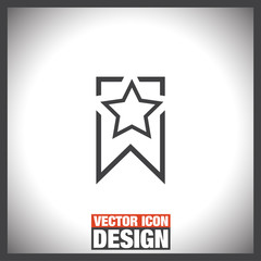 Bookmark sign line vector icon.