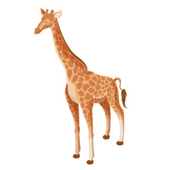 Isometric Giraffe icon