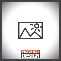 Image sign vector icon. Picture sign vector icon