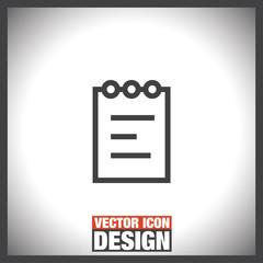 Notepad sign line vector icon. Clipboard symbol.