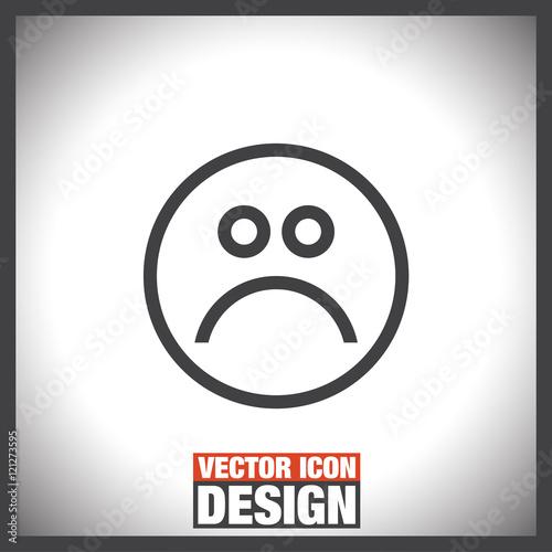 Sad Face Sign Line Vector Icon Emoticon Sign Sadness Symbol Stock