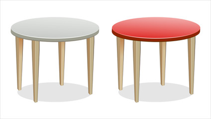 Vector Empty Round Tables