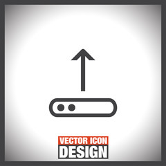 Upload sign line vector icon. Top arrow sign. Internet load symbol.
