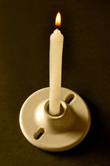 Candle and ceiling rosette