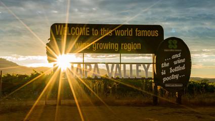 Napa Valley at Sunset
