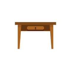 Table icon in flat style isolated on white background. Furniture symbol vector illustration