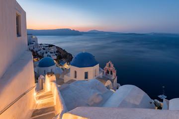 Blue domes at Oia , Santorini