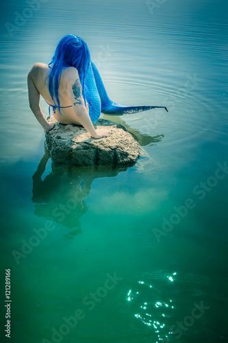 Meerjungfrau Auf Stein