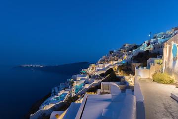 Night view of imerovigli , Santorini