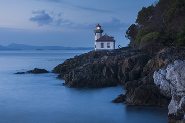 Lime Kiln Point State Park. This park is considered one of the best places in the world to view whales from land.This lighthouse is set on the west side of San Juan Island in Washington state.