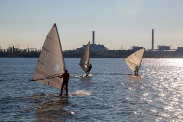 Серфинг на фоне Курской АЭС