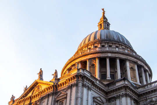 St Pauls cathedral in the evening, London