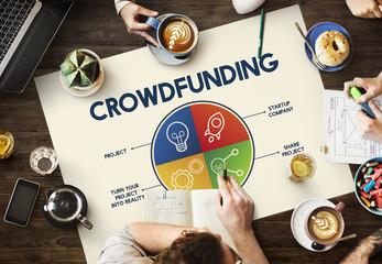 Crowdfunding Bulb Rocketship Plan Enterprise Graphic Concept