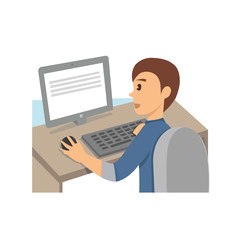 man working in front of computer