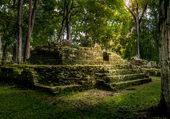 Ruins of residential area of Mayan Ruins - Copan Archaeological Site, Honduras