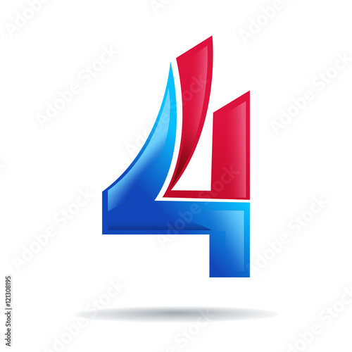 Number 4 logo