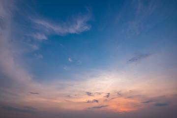 Evening sunset at the sea. Summer season.