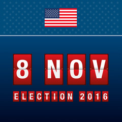 Presidential election day. 8 th november of mechanical scoreboar