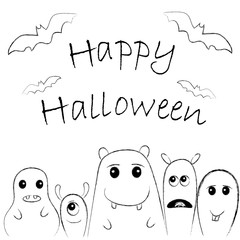 Cute monsters for Halloween2