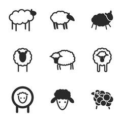 Sheep vector icons.