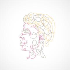 profil humain,graphique