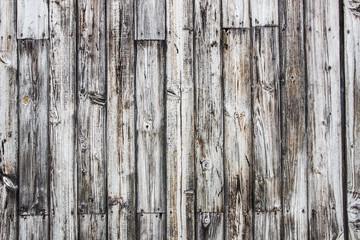 Gray wooden wall made with desks background.
