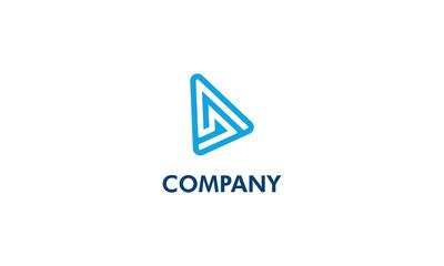 letter D shape triangle logo