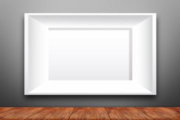 Collage of white photo frame on the wall