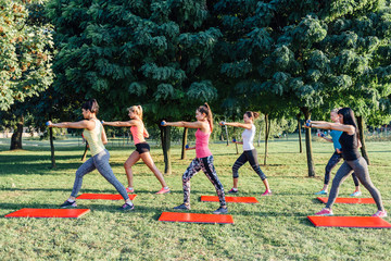 Women fitness group