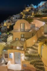 Beautiful Oia at night , Santorini