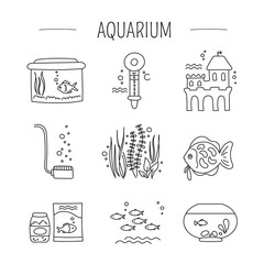 Aquarium care set