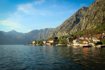 Views of Kotor Gulf, Montenegro