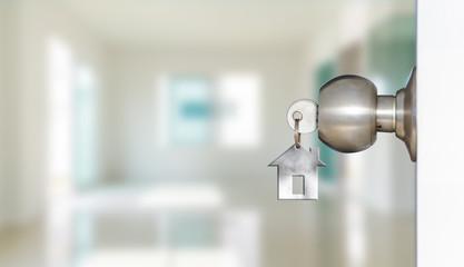 Open door with keys of house  Wall mural