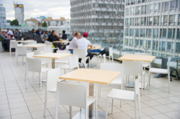 Modern rooftop restaurant