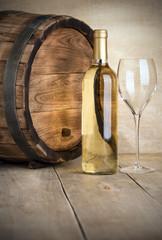 Bottle of dry white wine
