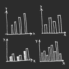 Doodle Diagram chart set.vector illustration