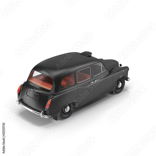 london cab isolated on white 3d illustration stockfotos. Black Bedroom Furniture Sets. Home Design Ideas