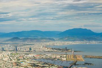 High view of Da Nang city inVietnam