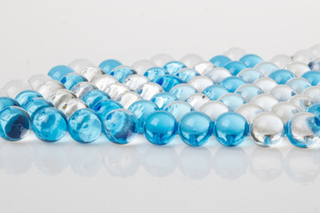 Abstract background and texture of blue ball gel