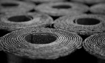 Roofing felt. Rolls of Bitumen
