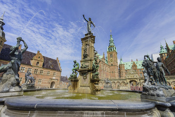 Traveling in the famous Frederiksborg Castle, Copenhagen