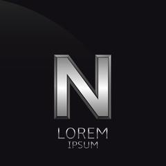 Silver N Letter emblem