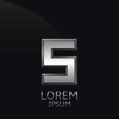 Silver S Letter emblem